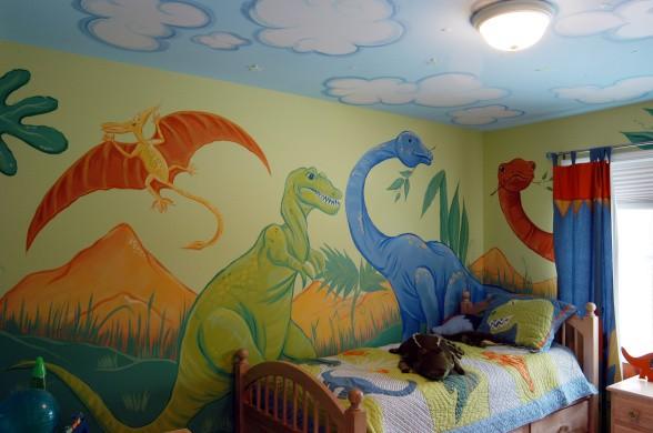 Роспись потолка и стен в детской