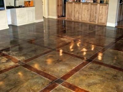 Окрашенный бетонный пол