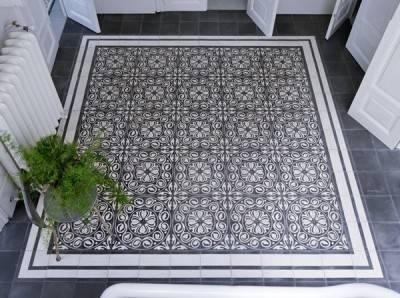 Пол из керамической плитки — фото 101