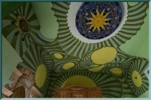 Роспись потолка символами солнца