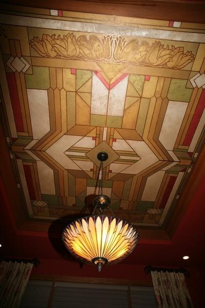 Роспись потолка в стиле модерн