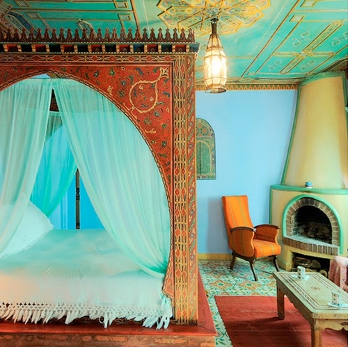 Роспись потолка спальни в восточном стиле