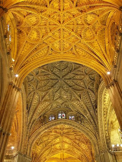 Потолок Севильского кафедрального собора