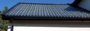 Крыша из стеклянной черепицы
