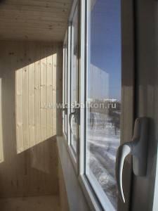 ПВХ стеклопакет на балконе