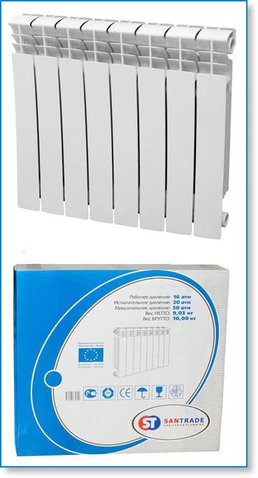 Радиатор отопления биметаллический 500A2 -12 секций