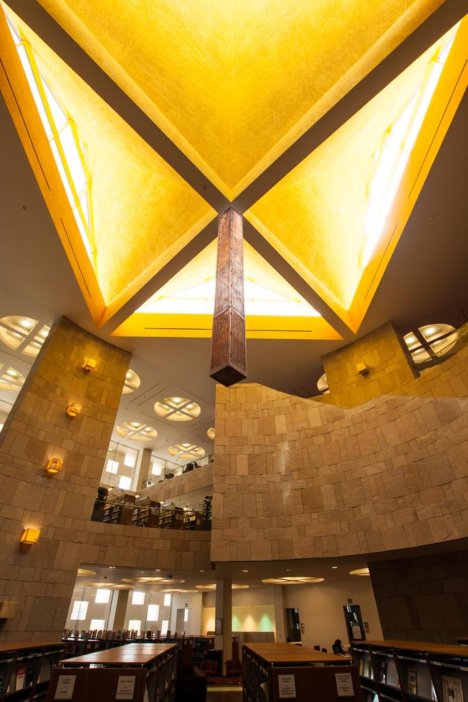 Потолок в библиотеке университета Джордтауна, Катар