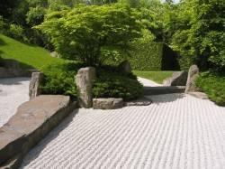 Японский сад камней с галькой — фото 2