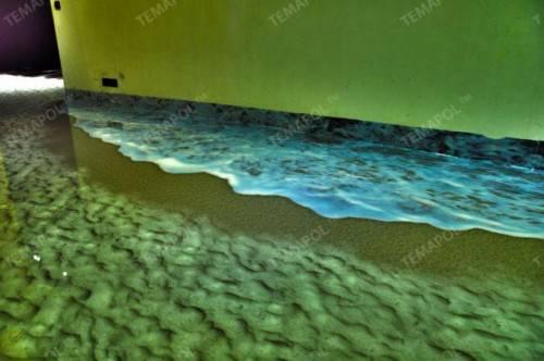 Наливной пол - песок и море