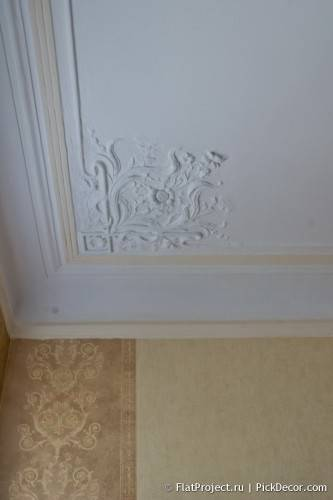 DIY paint fretwork on ceiling - before / after 03