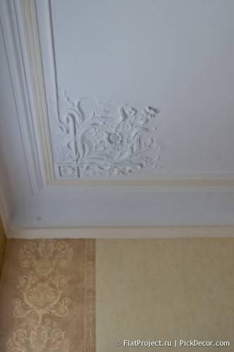 Роспись лепнины на потолке - до/после 03