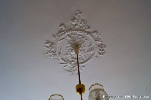Роспись лепнины на потолке - до/после 05