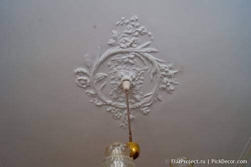 Роспись лепнины на потолке - до/после 06
