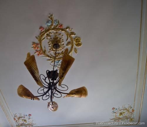 Роспись лепнины на потолке - до/после 08
