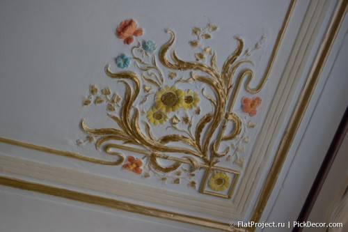 Роспись лепнины на потолке - до/после 17