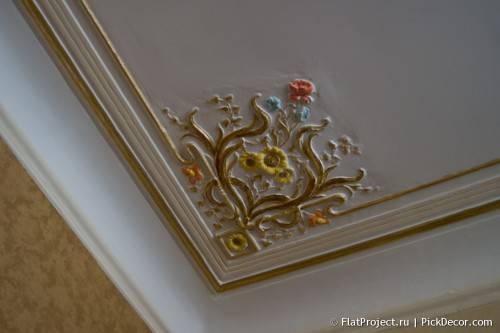 Роспись лепнины на потолке - до/после 19