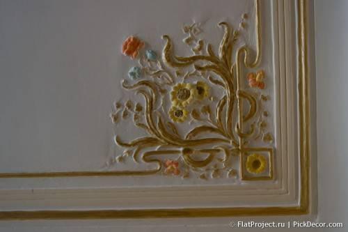 Роспись лепнины на потолке - до/после 20