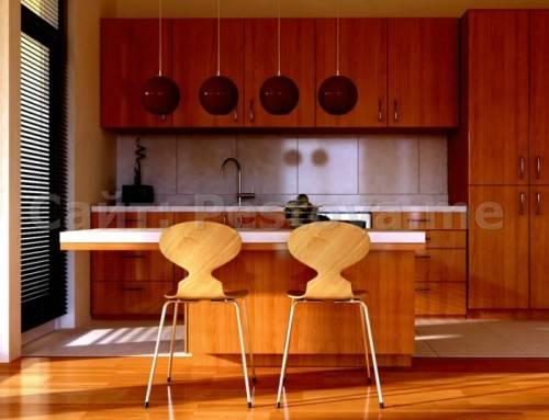 Дизайн кухни с использованием дерева
