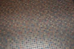 Пол из линолеума под мозаику