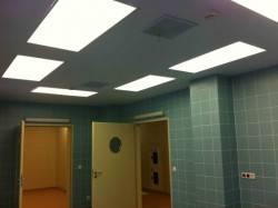 Потолок из гипрока со светильниками —  Световые Технологии