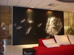 Натяжная стена с принтом от Stretch Ceilings