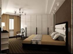 Потолок с нишей из гипрока в спальне