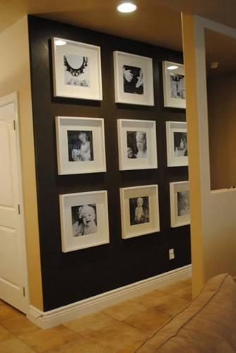 Декор стены фотографиями