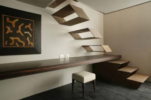 Лестница совмещенная со столешницей в Hotel The Gray в Милане