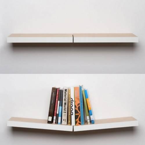 Книжная полка с небольшим углом завала, предназначенным для удержания книг от  Jennifer Heier
