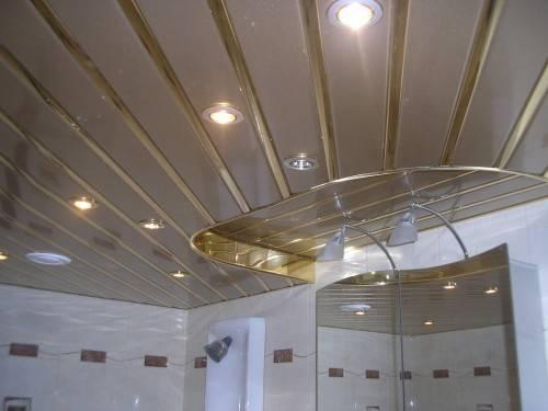 Реечный потолок два уровня