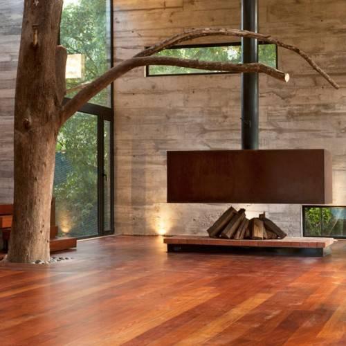 Свободно стоящий камин от Paz Arquitectura