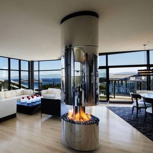 Газовый камин 360º от Smith Designs