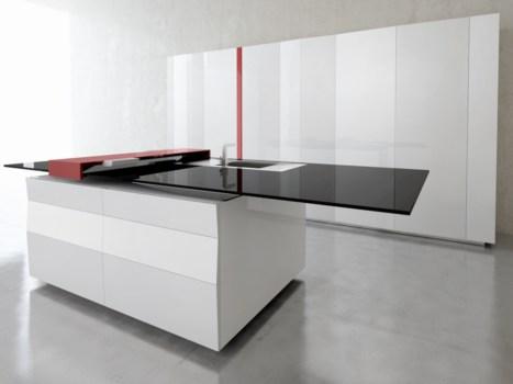 Умная кухня со встроенным планшетом Samsung от Toncelli