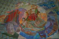 Фреска на потолке в ратуше Осло — фото 1