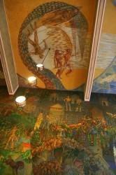 Фреска на потолке в ратуше Осло — фото 2