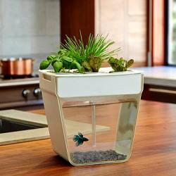 Комбо — горшок с цветами + аквариум