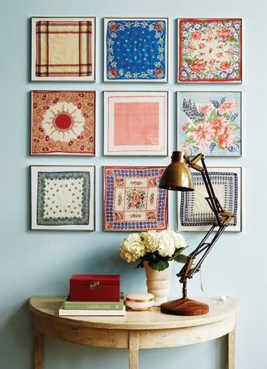 Декор стены носовыми платками