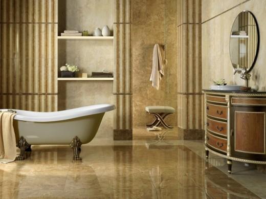 Керамическая плитка Cathedral в ванной комнате