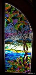 Декор витражом межкомнатной двустворчатой двери — фото 15