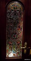 Декор витражом межкомнатной двери — фото 9