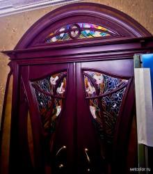 Декорирование витражом двери со стеклом — фото 6