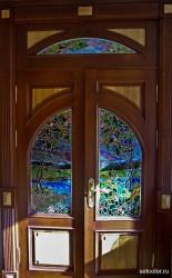 Декор витражом межкомнатной двустворчатой двери — фото 7