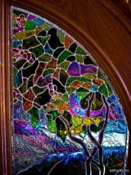 Декор витражом межкомнатной двустворчатой двери — фото 19