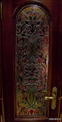 Декор витражом межкомнатной двери — фото 10
