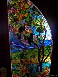 Декор витражом межкомнатной двустворчатой двери — фото 23