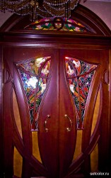 Декорирование витражом двери со стеклом — фото 4