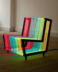 Кресло из светодиодов
