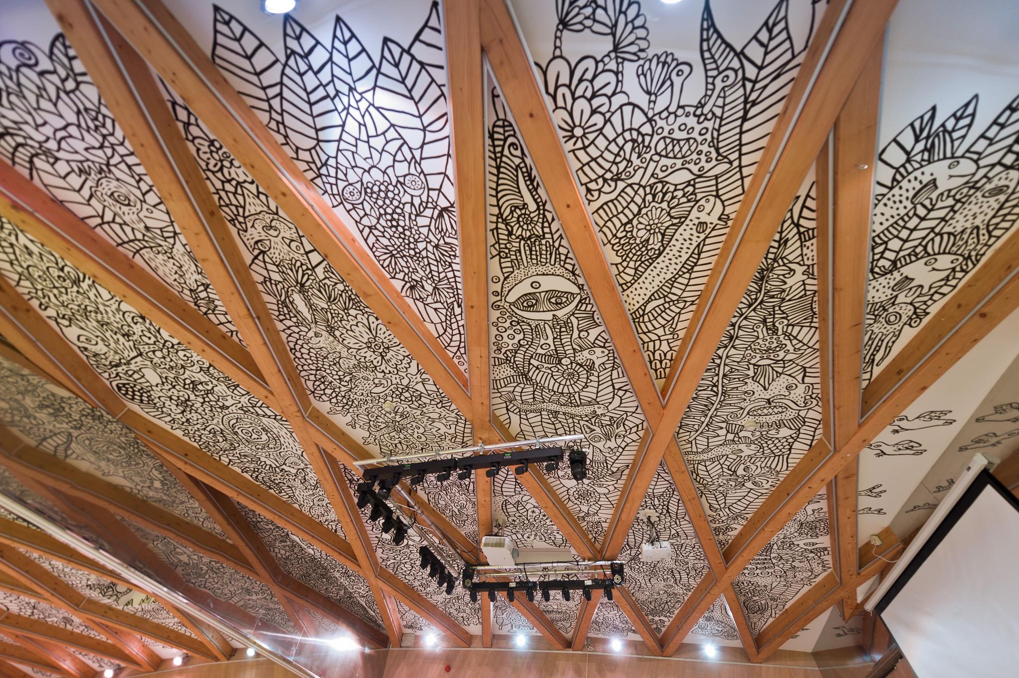 Фреска на потолке отеля Eroplán — фото 3