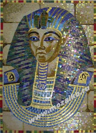 Панно из мозаики -  Тутанхамон