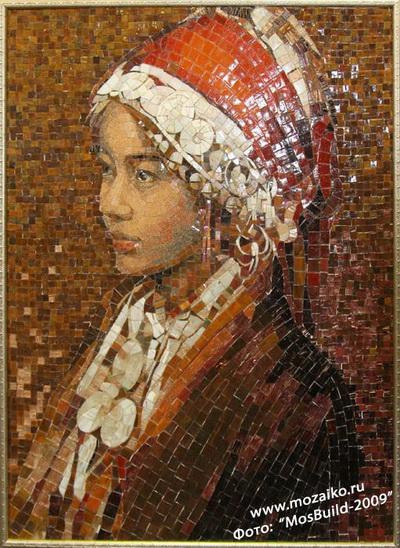 Портрет из стеклянной мозаики на заказ